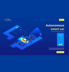 concept banner with autonomous smart car vector image