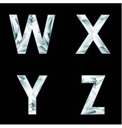 Diamond letters Alphabet available in portfolio vector image