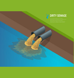 Dirty water stems from pipe polluting the vector