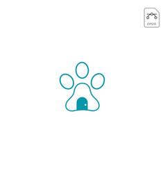 Dog logo design inspiration for pet care business vector
