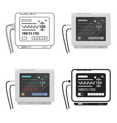 ecg machine icon cartoon single medicine icon vector image