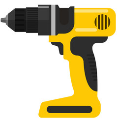 Electric cordless screwdriver or drill vector