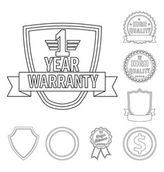 Emblem and badge icon vector