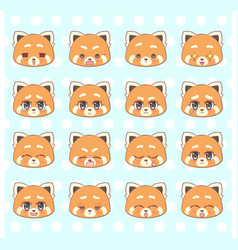 emoticons emoji smiley set colorful sweet kitty vector image