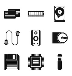 Expert icons set simple style vector