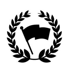 Flag location mark icon vector