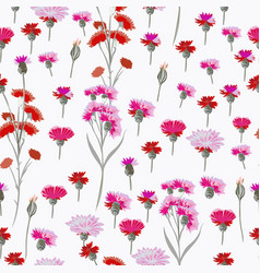 floral rustic pattern with pink flowers for design vector image