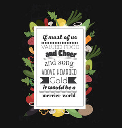 Food quote vector