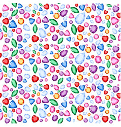 for rainbow colors gems and vector image