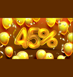 forty five percent or 45 marketing offer vector image