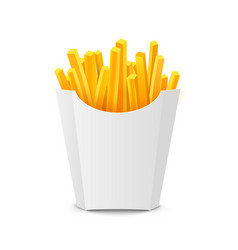 French potato pack box cartoon fastfood fry vector