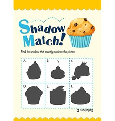 Game template with shadow matching muffin vector
