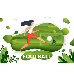 girl football player vector image