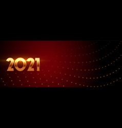 Glowing new year 2021 on maroon background vector