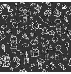 Hand-drawn sketch in the style seamless pattern vector image