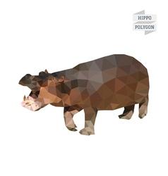 Hippopotamus polygon vector
