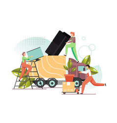 home relocation flat style design vector image