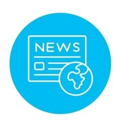 International newspaper line icon vector image