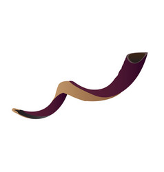 Isolated shofar vector
