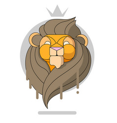 king lion head vector image