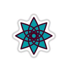 Label icon on design sticker collection arabic vector