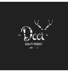 Label in hand draw style black vector image