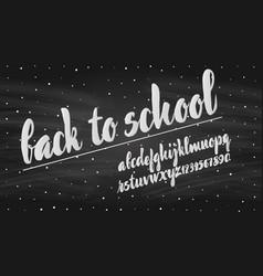 latin alphabet chalk - badge back to school trend vector image