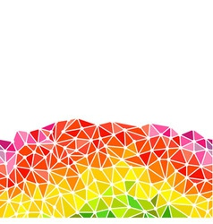 Low poly triangles bottom border vector