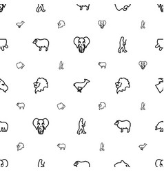 Mammal icons pattern seamless white background vector