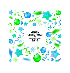 merry christmas and new year 2019 vector image