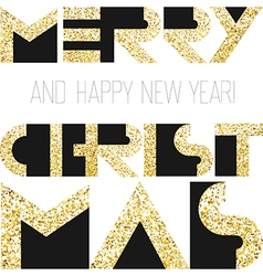 Merry Christmas gold cover design vector
