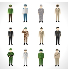 Military Avatars Set vector