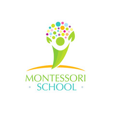Montessori school creative kids friendly vector