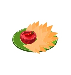 Nachos On Plate vector