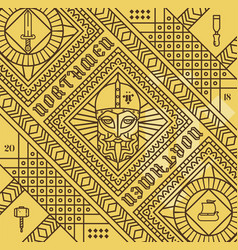 Norse pattern vector