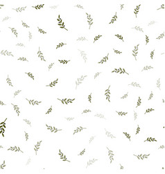 Olives branch seamless pattern green olive vector