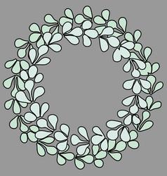 pastel laurel wreath frame vector image
