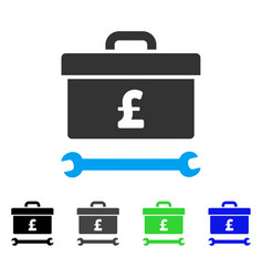pound toolbox flat icon vector image