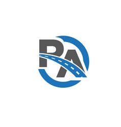 r a road logo designs icons vector image
