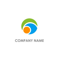 round abstract colored company logo vector image
