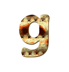 Rounded english lowercase letter g with matza vector