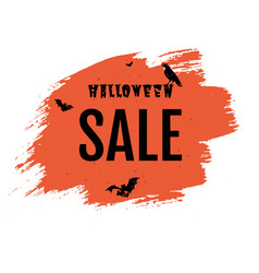 sale happy halloween poster with blob vector image