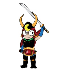 Samurai cartoon vector image