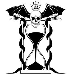 sandglass and skull vector image