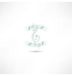 saxophone and music vector image