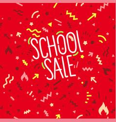 school sale banner design template vector image