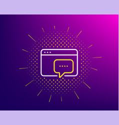 seo message line icon web chat sign traffic vector image