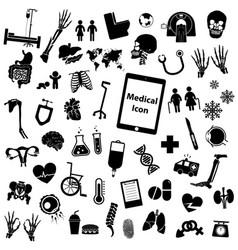 set medical icon vector image