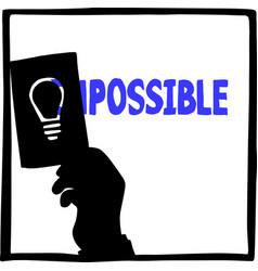 silhouette hand businessman using idea vector image