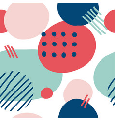 Simple seamless pattern with abstract shapes vector